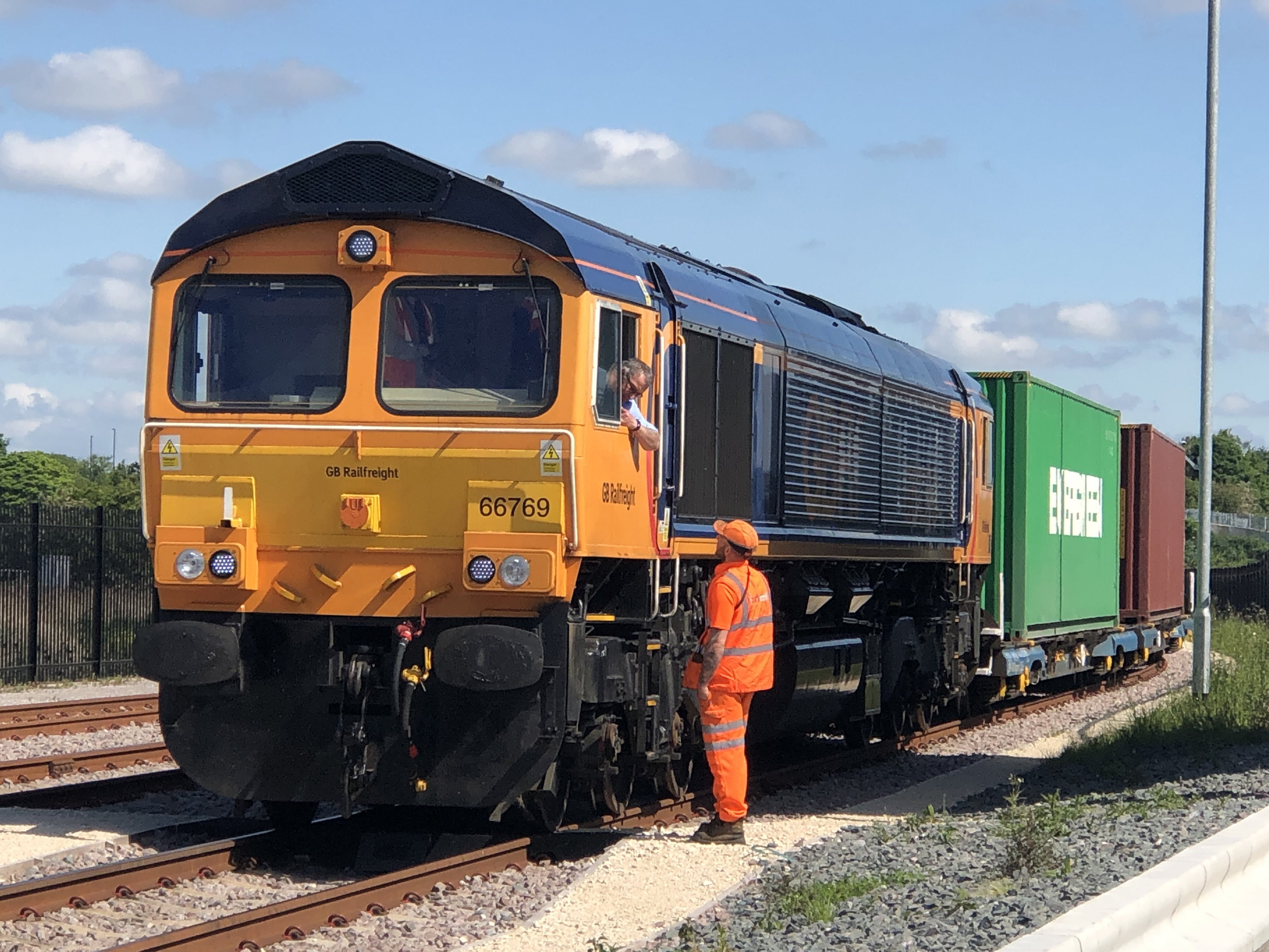 New GBRf Felixstowe service arriving at iPort Rail Doncaster 210519 4 iPort Rail