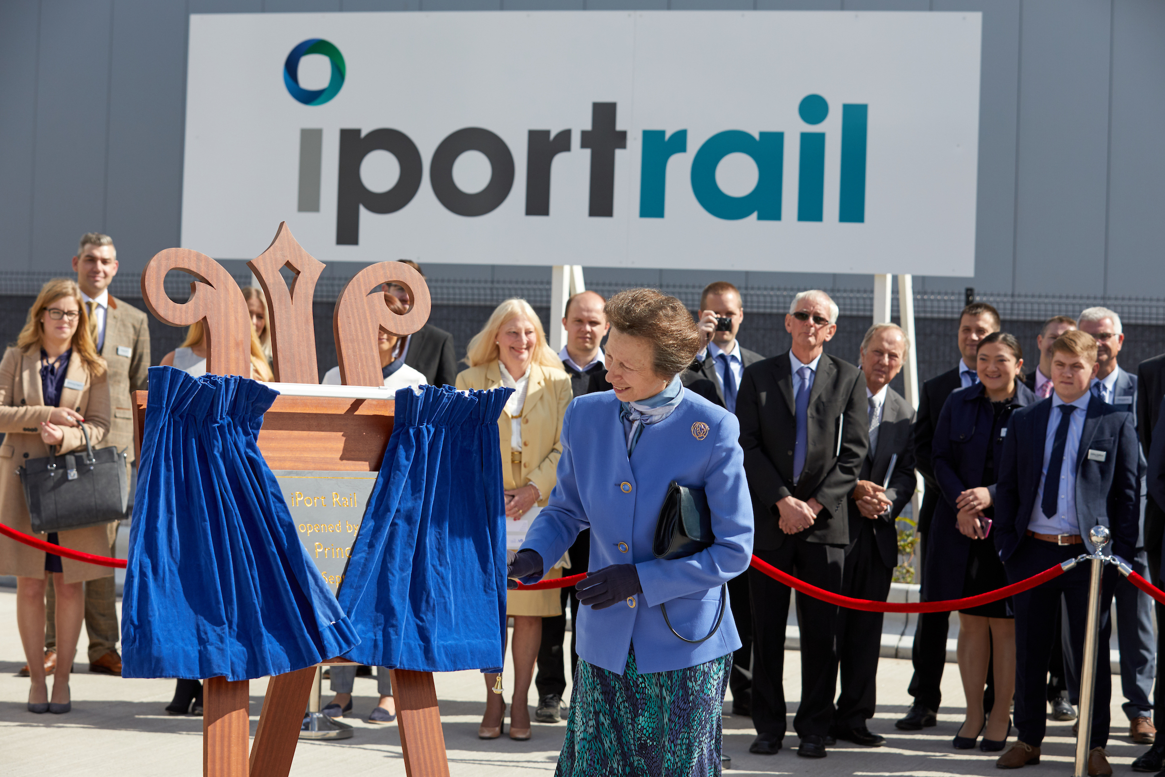 iPort Rail being formally opened by HRH The Princess Royal.