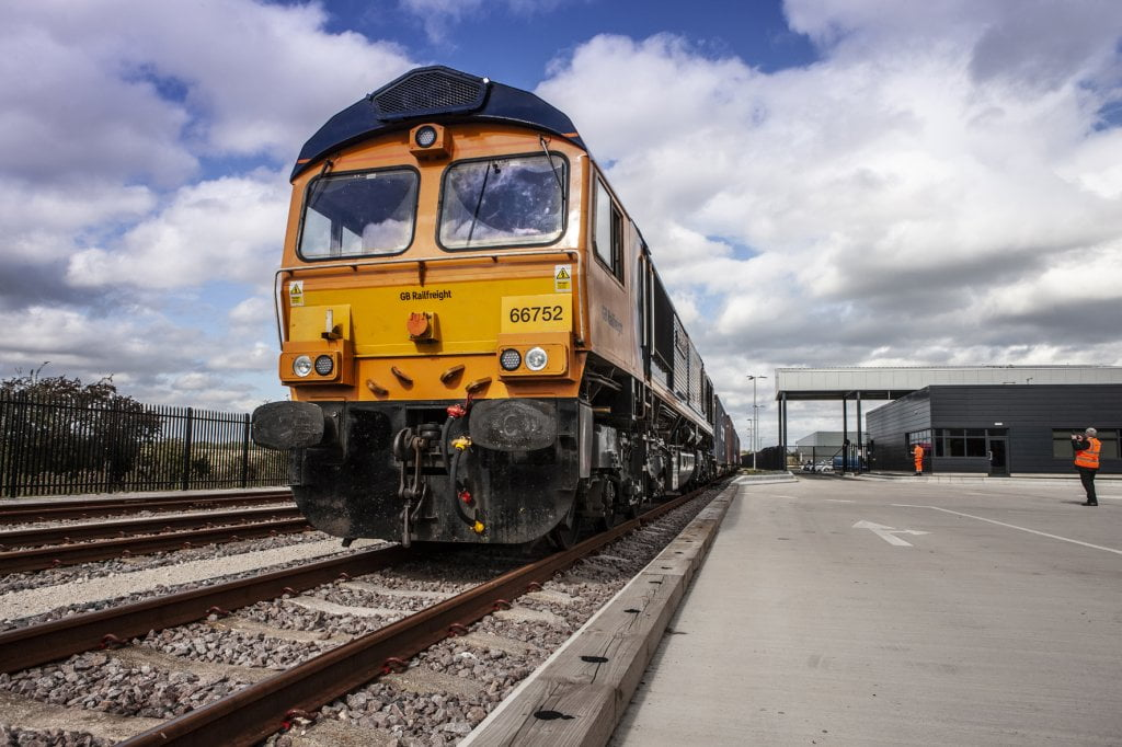 First GBRf train comes in to iPort Rail Doncaster 1 Verdion iPort Rail