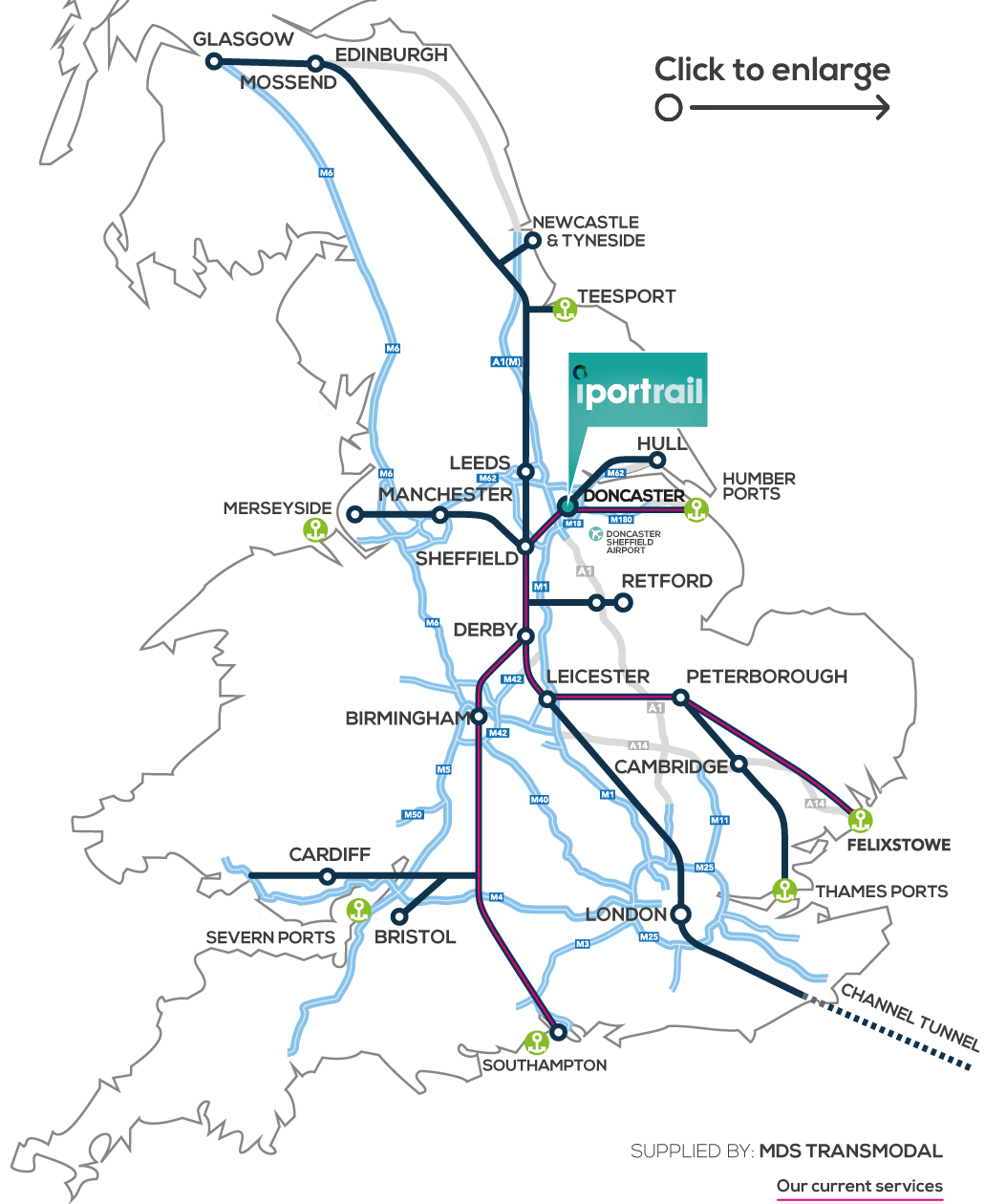 iPortRail Doncaster Map